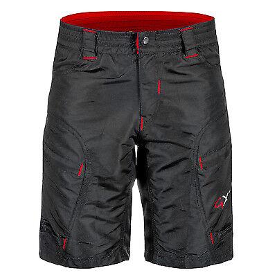 GXT MTB Boy/'s  Cycling Shorts  7-12 years Black Baggy
