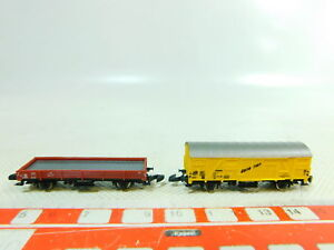 Bt917-0-5-2x-Marklin-Mini-Club-Piste-Z-wagons-DB-bananes-etc-Neuw