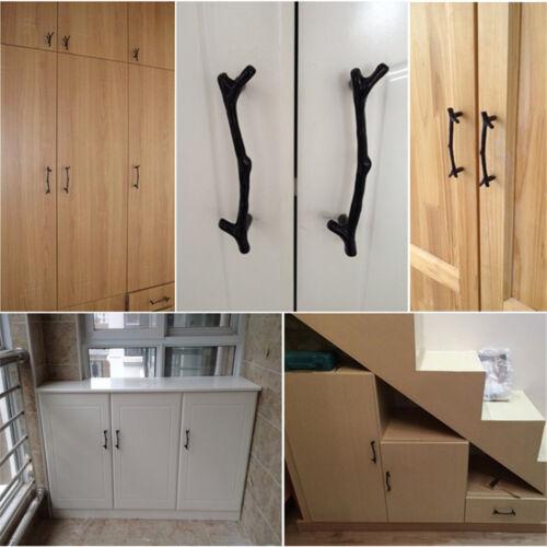 Tree Branch Handles Black Silver Cabinet Drawer Door Pulls Knobs Furniture Top
