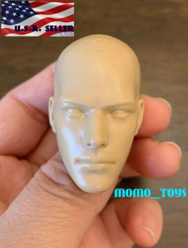 "1//6 Unpainted Male Head For 12/"" Figure PHICEN Hot Toys Ganghood Worldbox ❶USA❶"