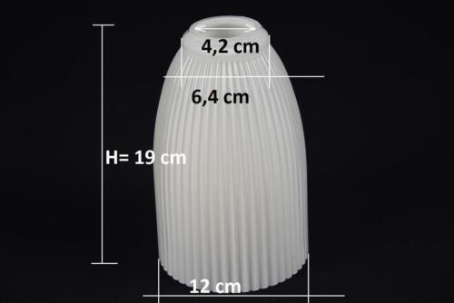 Ø ca Lampenschirm Glas Glasschirm weiß Ersatz E27 K0520 12 cm