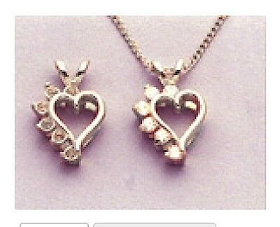 2mm Pre-Notched Sterling Silver Asymmetrical Heart Cluster Pendant Setting 6