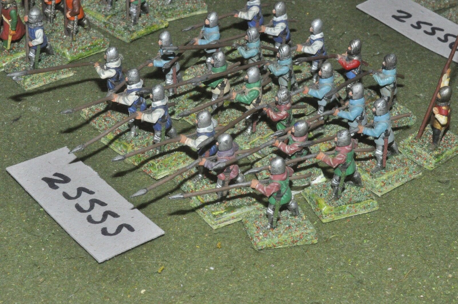25mm medieval   english - spearmen 24 figures - inf (25555)