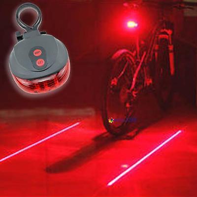Laser 5 LED Cycling Bicycle Bike Taillight Warning Lamp Flash Alarm Light MT
