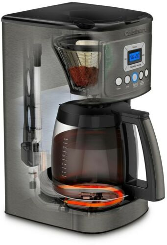 Cuisinart 14-Cup Programmable Coffeemaker Brew Hotter Coffee Black Stainless NEW