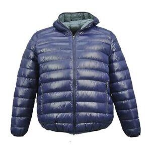 Dettagli su Maxfort taglie forti uomo piumino giubbotto giubbino vera piuma TRULLI giacca