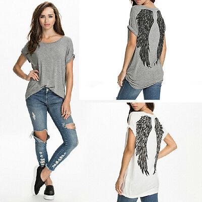 New Fashion Womens Ladies Short Sleeve Casual Shirt Tops Blouse T-Shirt Summer