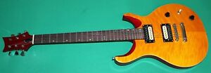 CHITARRA-ELETTRICA-NEW-ORLEANS-ROCK-STYLE-PSN-YL-TV-YELLOW-COLOUR-FLAMED