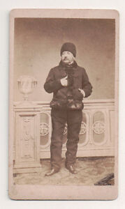 Vintage-CDV-Unknown-Austrian-Noble-Fur-Coat-amp-Hat-Franz-Volker-Photo