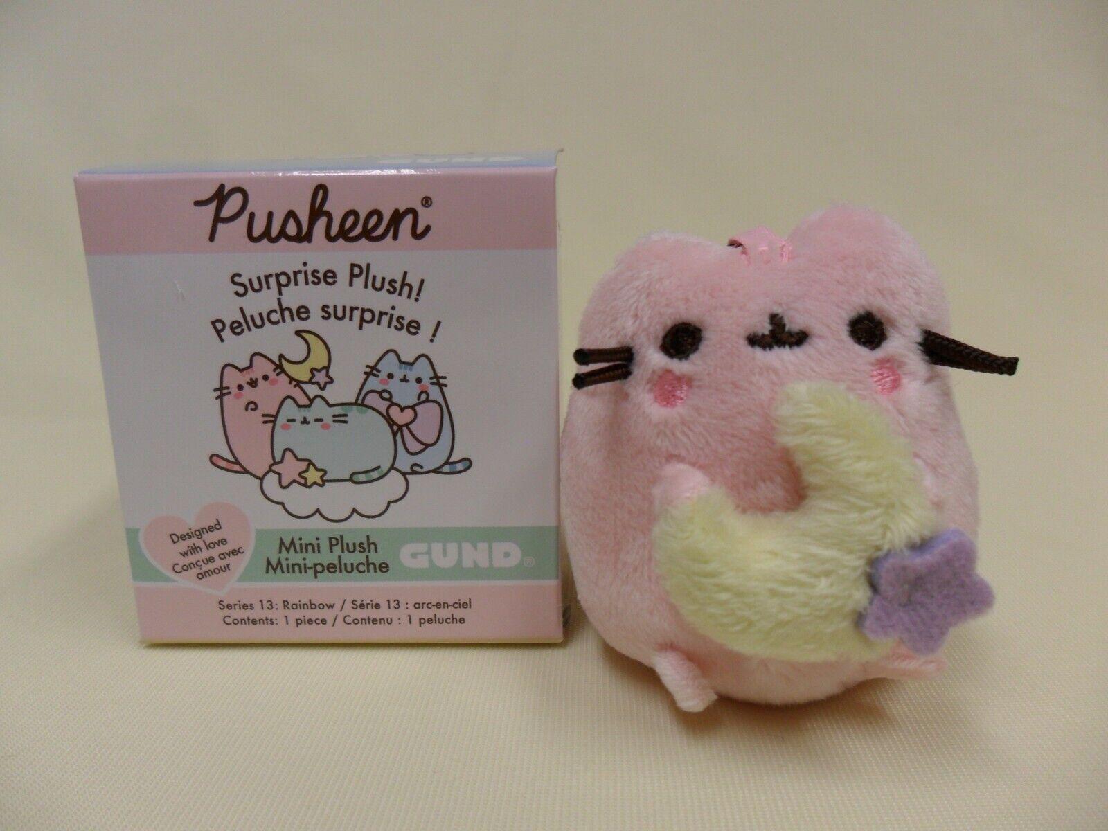 Gund NEW Pusheen Blind Box PINK MOON Rainbow Opened Plush Cat Series 13