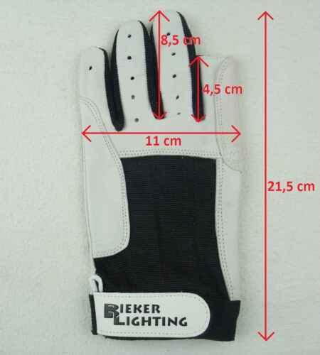 2 Paar BluePort Segelhandschuhe Rindsleder Gr L Rigger Roadie Gloves Handschuhe Handschuhe Bekleidung
