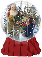 Santa And Helper Large Snowglobe - Up With Paper Pop-up Christmas Card