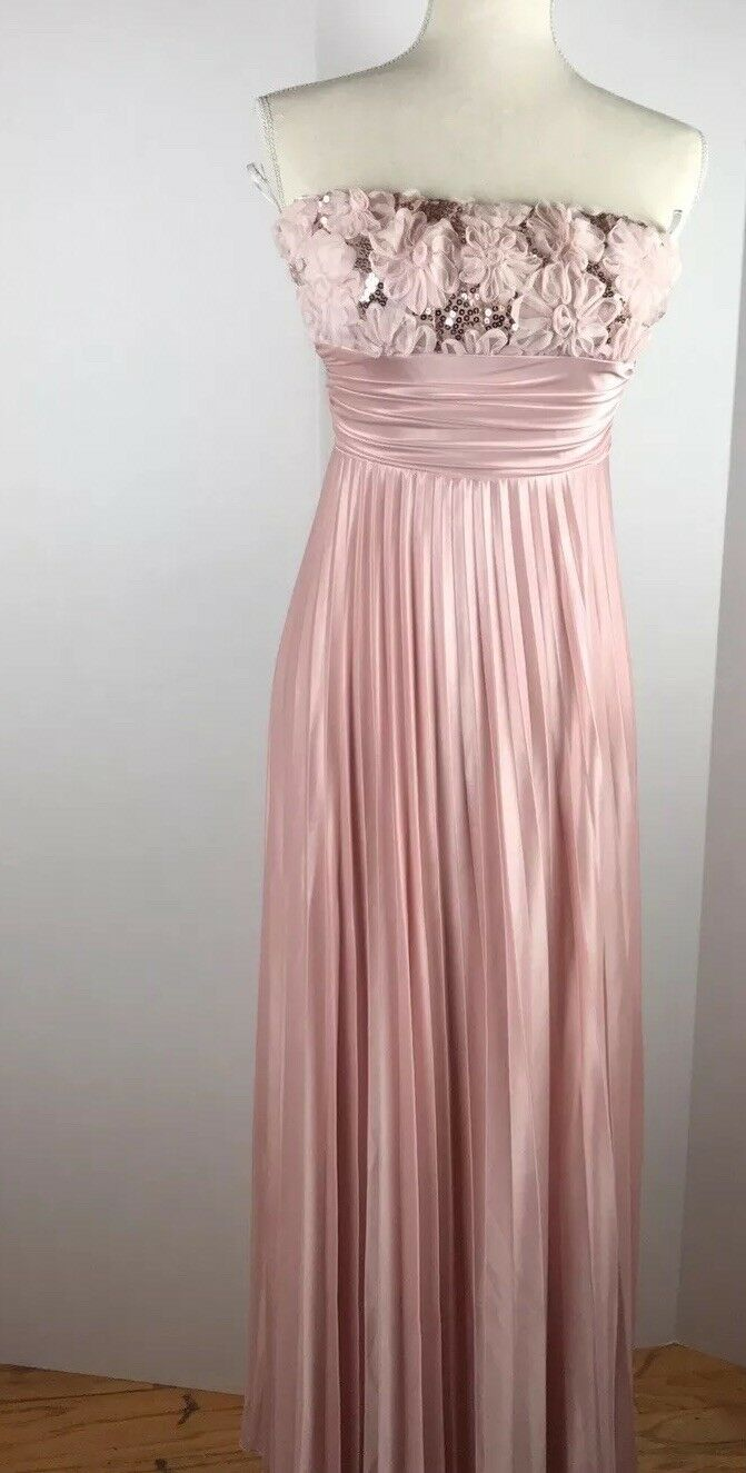 Pale Pink Maxi Dress Strapples