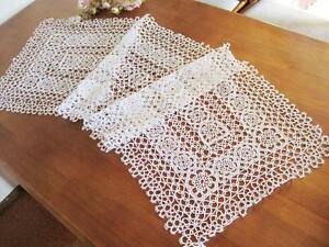 Image Is Loading Vintage Style Skilful Hand Tatting Lace White Cotton