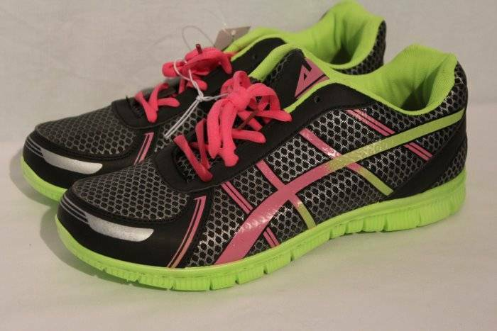 NEW Womens Tennis Shoes Size 6 Sneakers Black Pink Green Athletic Sneakers 6 Running Gym 0b2d7d
