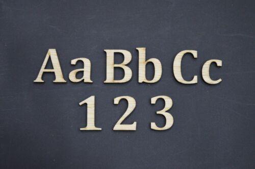 Cualquier tamaño de madera letras y números láser de corte Madera Letras Arial Cambria Comic Sans