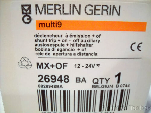 26948 New Merlin Gerin Multi 9 Shunt Trip+Auxiliary Switch 12-24V MX+OF