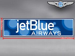 JETBLUE AIRWAYS JET BLUE RECTANGULAR BUBBLES LOGO DECAL / STICKER