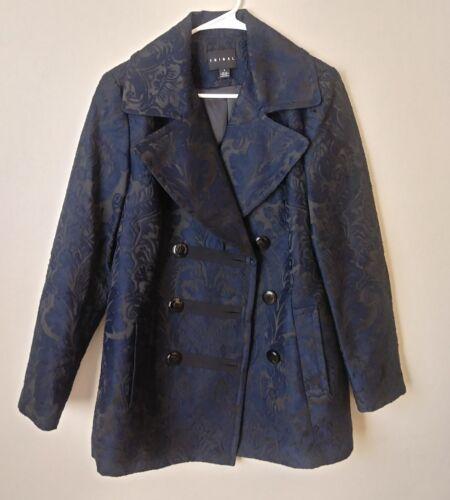 TRIBAL Womens Coat Jacket Black Blue Royla Toile S