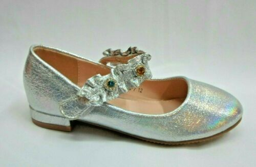 GIRLS PARTY METALLIC WEDDING COMMUNION SHOES,GOLD CHAMPAGNE SILVER 7-11 66-7