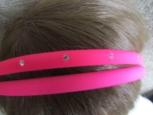 Pack 2 Neon Capelli Alice Bande Diamante Cerchietti 0,7 CM PLASTICA FASCIA Hairband