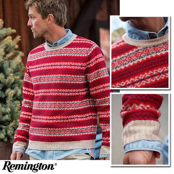 Remington 1816 The Durango Crew Sweater (2X)- ROT