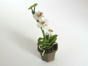 1:12 Orchid Flowers in a Pot Doll House Miniatures Flowers  G