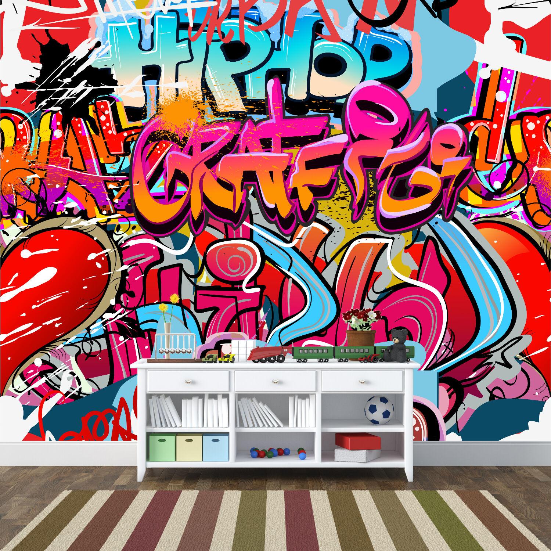 Awesome Graffiti Style Kids Teen Wall Murals Wallpaper 3000mmX2400mm - WM-344
