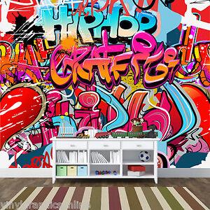Awesome Graffiti Style Kids Teen Wall Murals Wallpaper 3000mmx2400mm Wm 344 Ebay