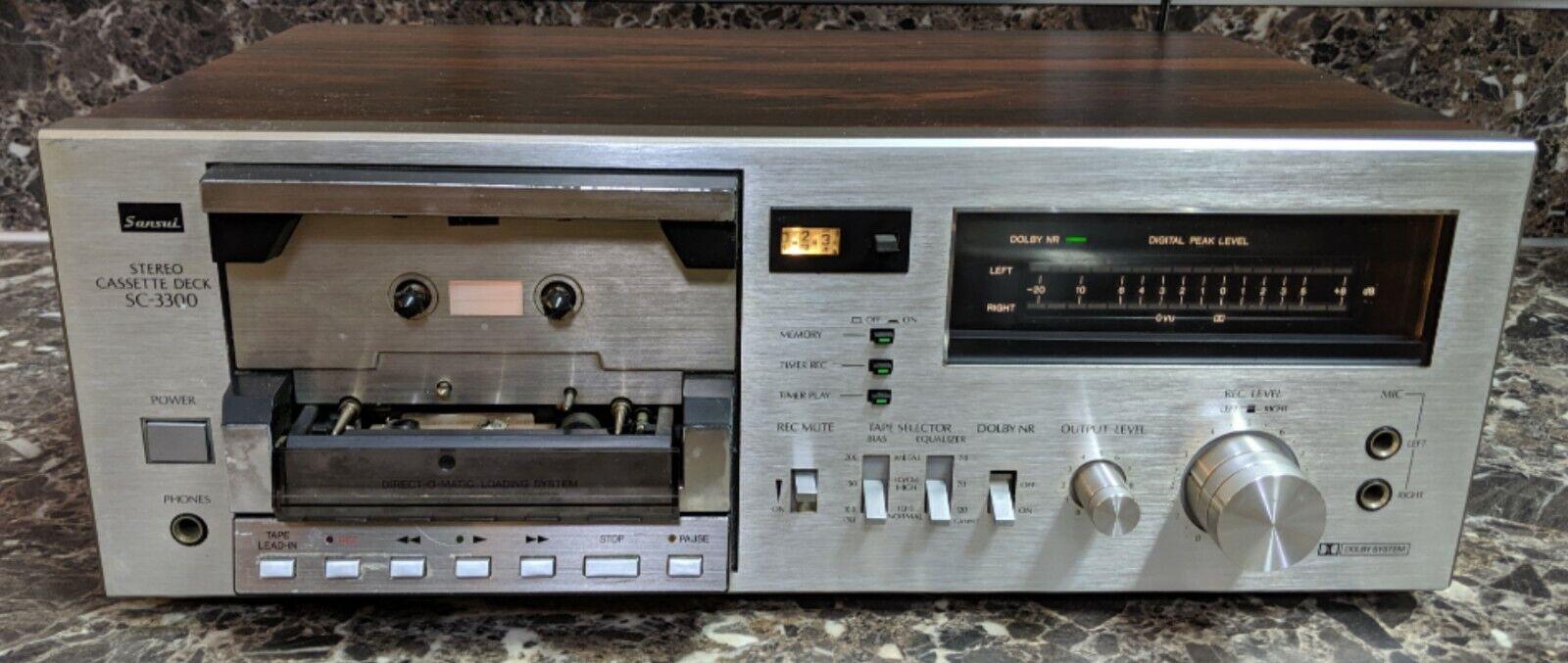 Vintage Sansui Stereo Cassette Deck Sc-3300