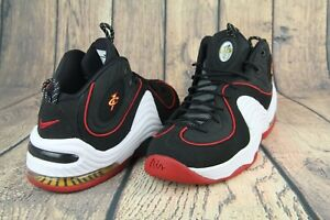 reputable site a7960 6a147 Image is loading Nike-Air-Penny-II-2-Miami-Heat-Black-