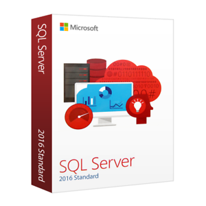 Microsoft SQL Server 2016 Standard 16 Core UNLIMITED CAL/'s with original MS USB