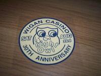 WIGAN CASINO NIGHT OWL NORTHERN SOUL  VINYL WINDOW STICKER  9.5cm ACROSS