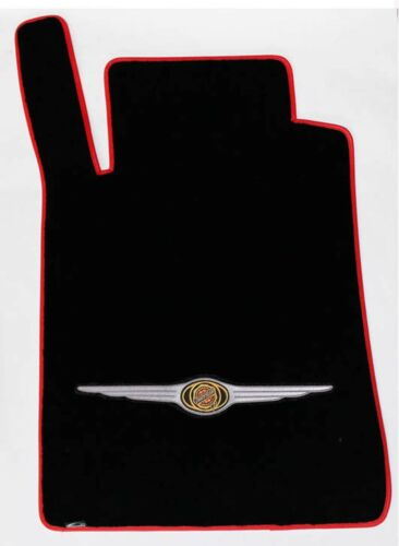 NEW Floor Mats 2004-2008 Chrysler Crossfire Embroidered Wings Logo Red Binding
