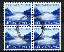 Switzerland 1956 SG#575, 40c Pro Patria Used Block Cat £48 #A58528