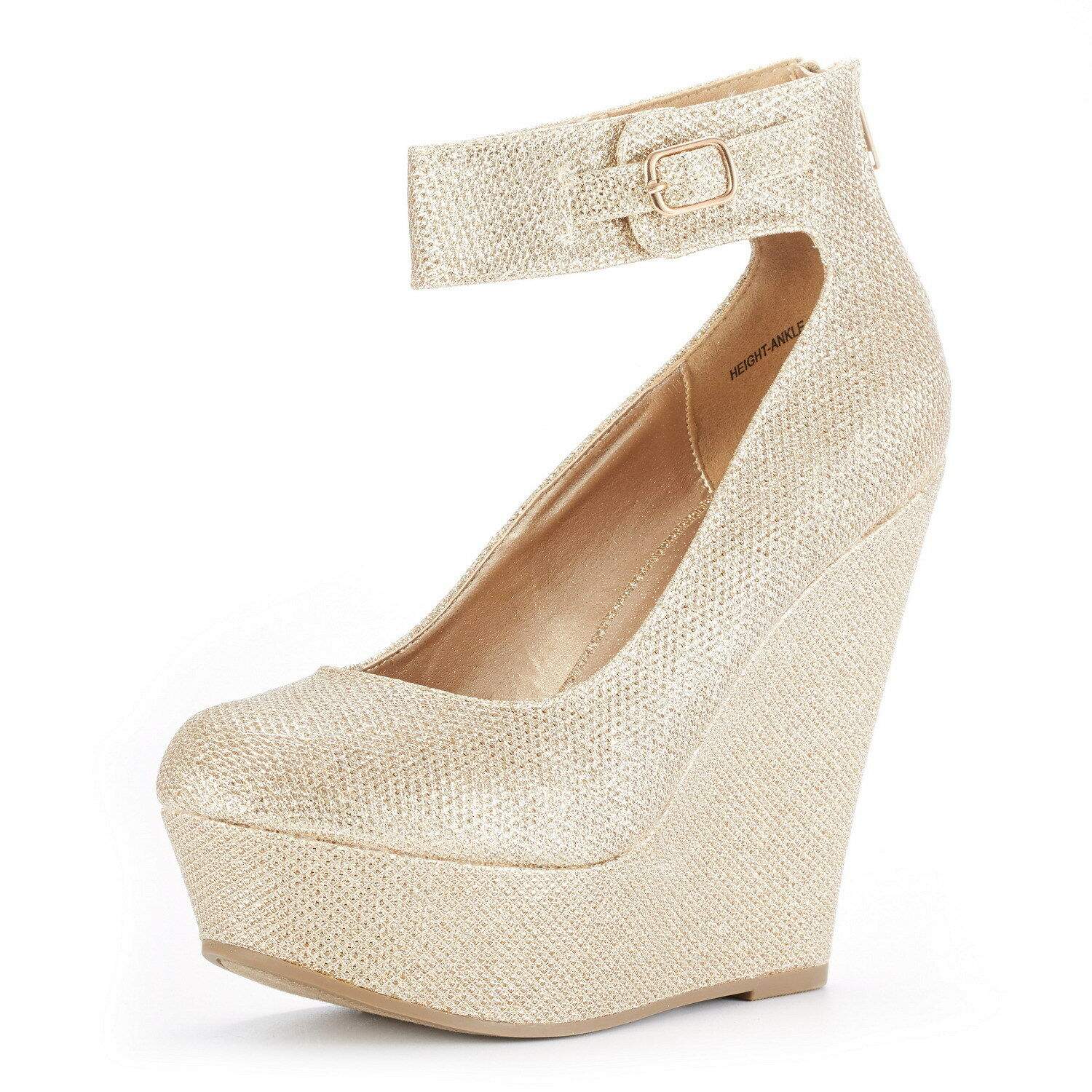 DREAM PAIRS Womens Height-Ankle New Wedding High Wedge Heel Platform Pumps shoes