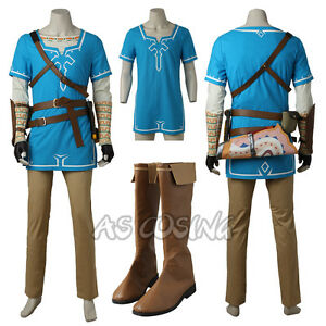 Details About The Legend Of Zelda Breath Of The Wild Link Costume Halloween Costume All Size