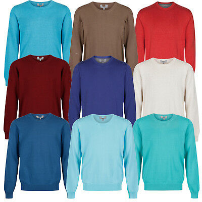 Marks & Spencer Mens Crew Neck Jumper New M&S Cotton Sweater