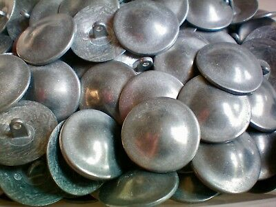 Large 26mm Aged Silver Rustic Industrial Metal Shank Costume Tunic Buttons XM76
