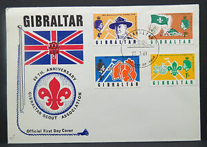 Gibralter-FDC-First-Day-Boy-Scouts-Jamboree-Path-Finder-Letter-Lot-9660