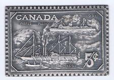 CANADA TRANSPORTATION STEAMSHIP of 1851 & 1951 in .999 SILVER ART BAR 6.3 GRAMS
