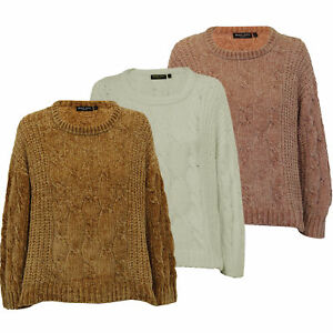 030586c02 Image is loading Ladies-Chenille-Jumper-Brave-Soul-Womens-Knitted-TIBET-