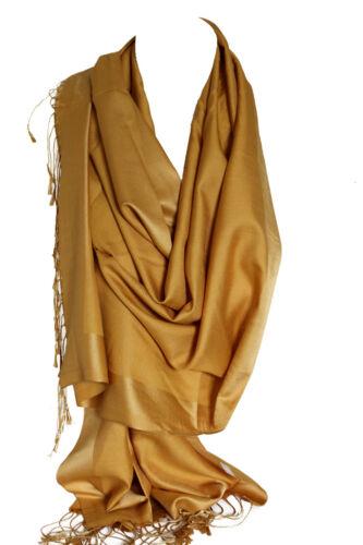 Seide Doppelseitiger Zweiton Wickeltuch Stola Schal Hijab Kopf