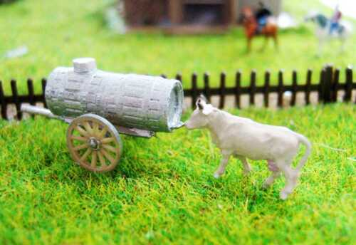 Barrel-Water Cart for cows and horses Track Scale Gauge Z 1:220 wb03