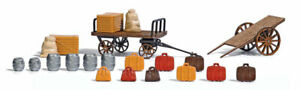 BUSCH-HO-SCALE-1-87-BAGGAGE-CART-amp-CARGO-KIT-SHIPS-IN-1-BUSINESS-DAY-1625