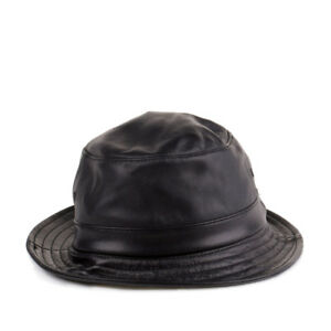 04bb309f12a Image is loading Supreme-All-Leather-Bucket-Hat-Black-32901