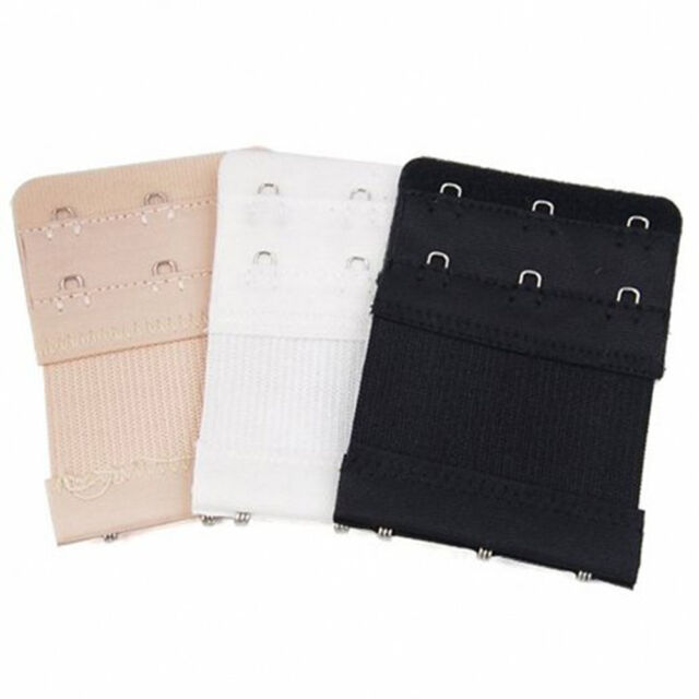 Elastic Back Bra Band Extender 2 X 2 Hook and Eye Tape Stretchy Extension