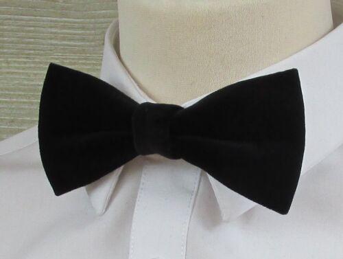 Black Satin Velvet Classic or Diamante Fully Adjustable Luxury Bow Tie Bowtie