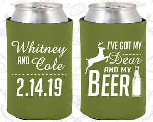 Wedding favor koozies cheap beer can koozie ideas 295 for Beer koozie wedding favors