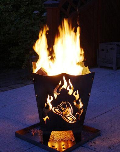 """Feuerkorb Stahl /""""Feuerwehr/"""" Qualität Made in Germany"""